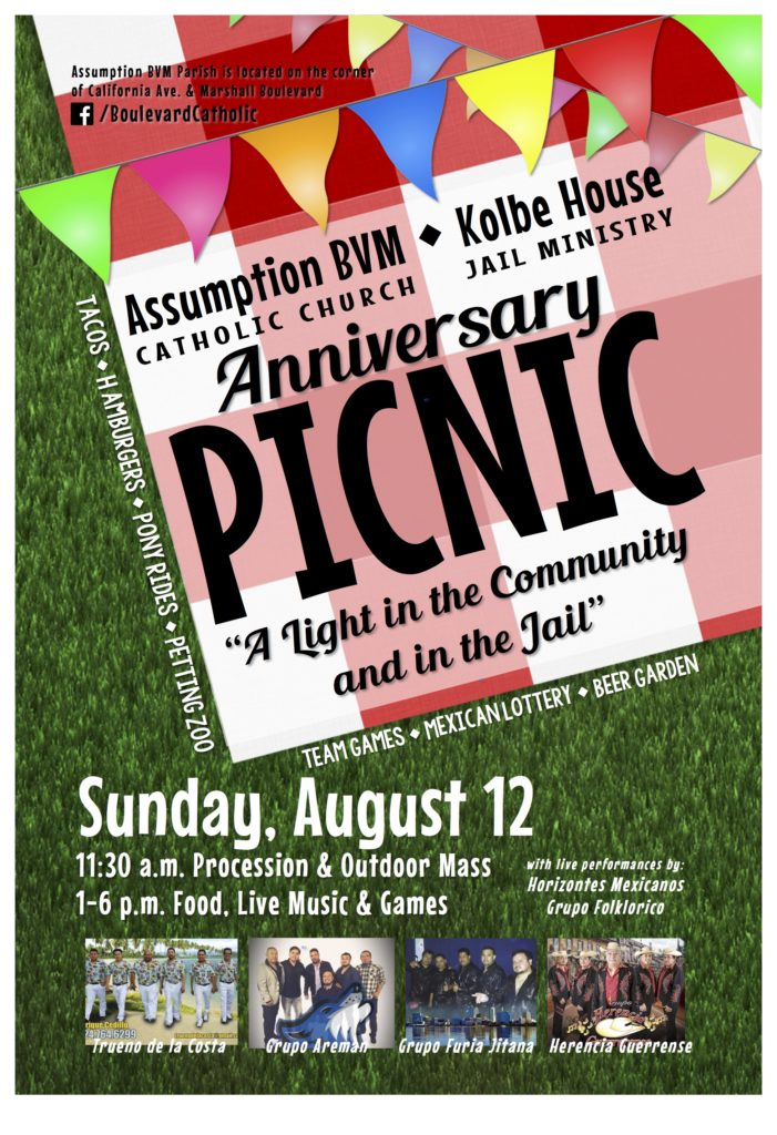 Join us for the anniversary picnic on Sunday, August 12.